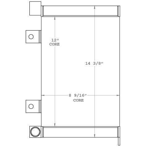 270725 - Komatsu PC27MR-2 Oil Cooler Oil Cooler