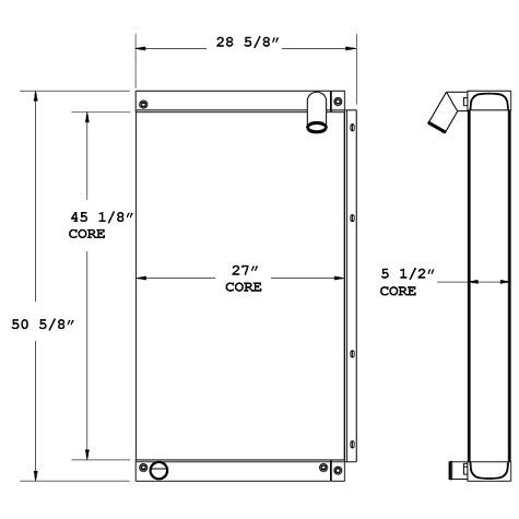 270768 - Industrial Oil Cooler Oil Cooler