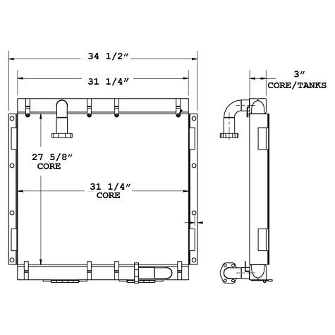 270776 - Terex Oil Cooler Oil Cooler