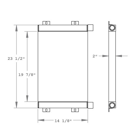 270781 - Thomas T153 Skidsteer Oil Cooler Oil Cooler