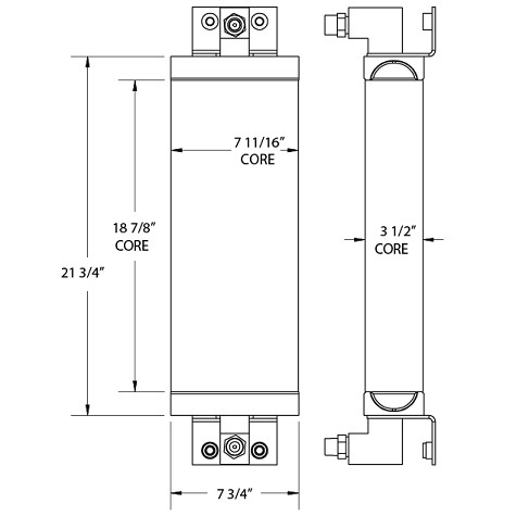 270800 - Elgin Sweeper Oil Cooler Oil Cooler
