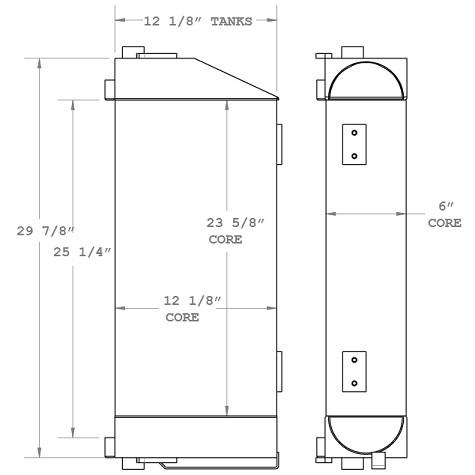 270803 - Refuse Truck Hydraulic Oil Cooler Oil Cooler