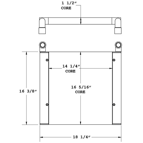 270809 - Thomas Bus Oil Cooler Oil Cooler