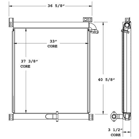 270811 - Komastu PC300 Hydraulic Oil Cooler Oil Cooler