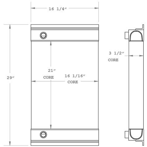 270816 - Industrial Oil Cooler Oil Cooler