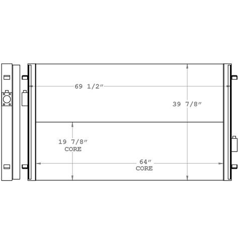 270827 - Manitowoc Crane Oil Cooler Oil Cooler