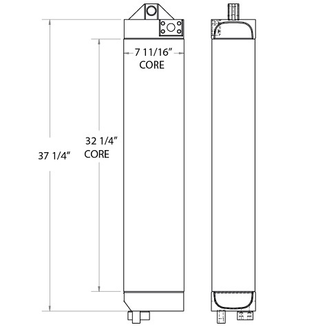270835 - Caterpillar 980B Oil Cooler Oil Cooler