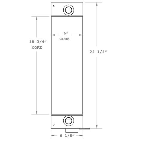 270839 - New Holland LM5020 Telehandler Oil Cooler Oil Cooler
