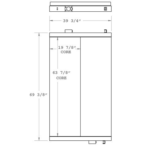 270843 - Manitowoc Crane Oil Cooler Oil Cooler