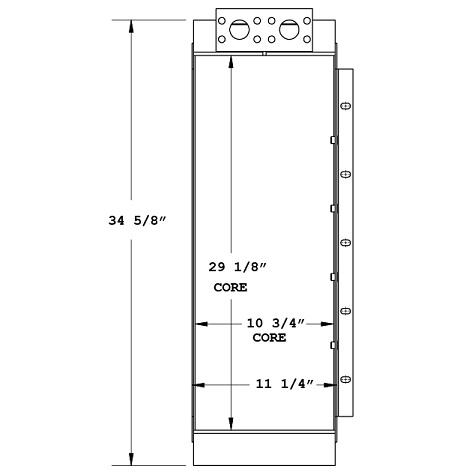 270851 - Prentice 384 Knuckleboom Oil Cooler Oil Cooler