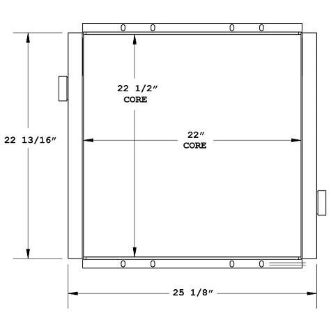 270852 - Sweeper Oil Cooler Oil Cooler