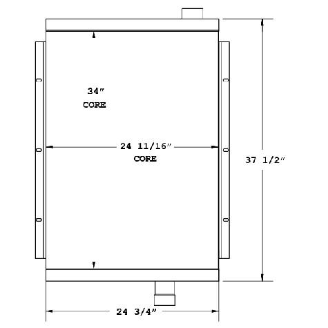 270862 - Industrial Oil Cooler Oil Cooler