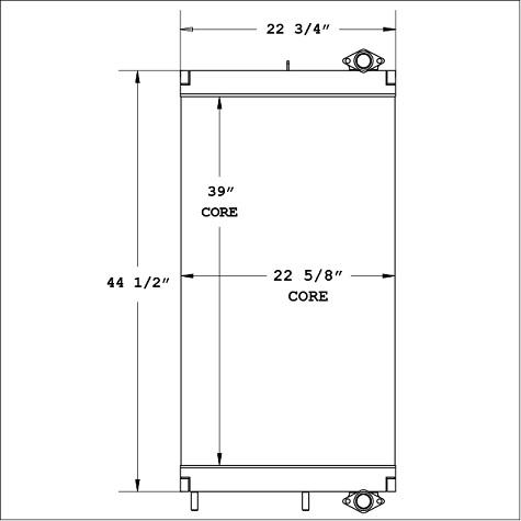 270865 - Komatsu Oil Cooler Oil Cooler