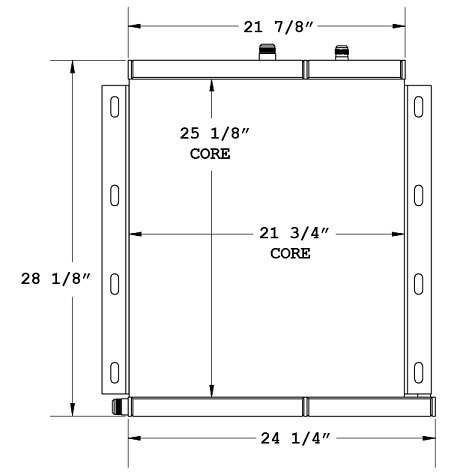270866 - MDI/Yutani Excavator Oil Cooler Combo Unit