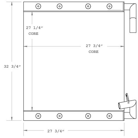 270867 - MDI/Yutani Excavator Oil Cooler Oil Cooler