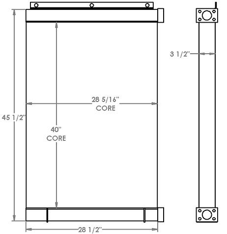 270872 - Manitowoc Crane Oil Cooler Oil Cooler