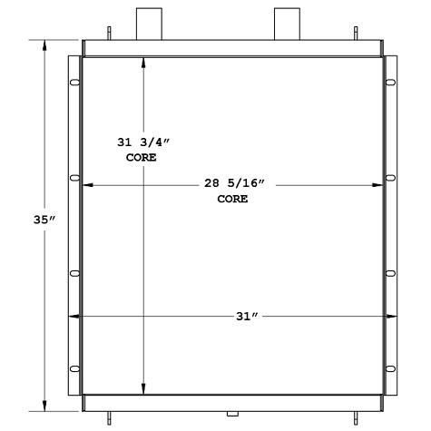 270882 - Kobelco 550 Mobile Crane Oil Cooler Oil Cooler