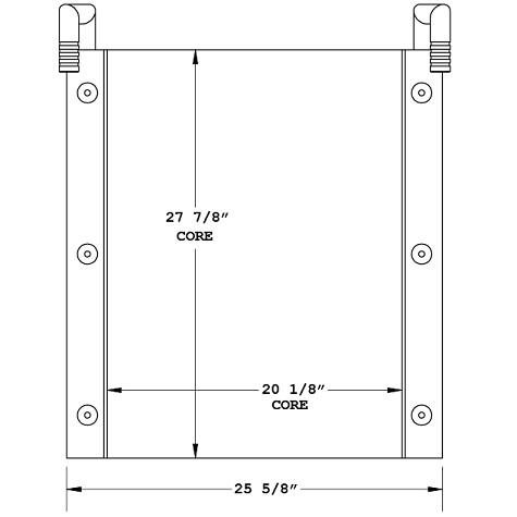 270883 - Case 9020 Oil Cooler Oil Cooler