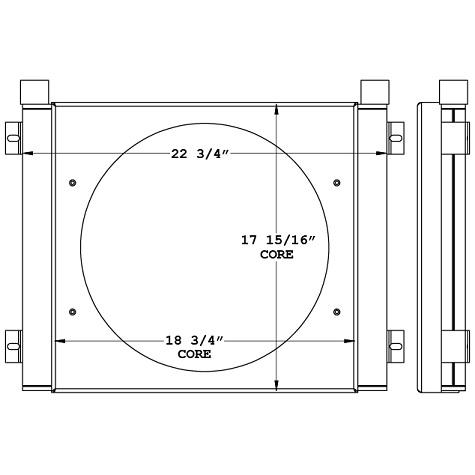 270900 - Industrial Oil Cooler Oil Cooler
