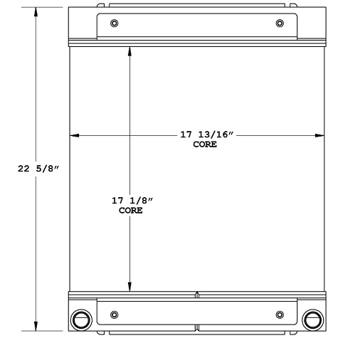 270908 - Lull / JLG 1044C Telehandler Oil Cooler Oil Cooler
