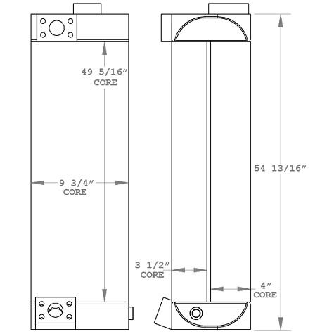 270911 - Industrial Oil Cooler Oil Cooler