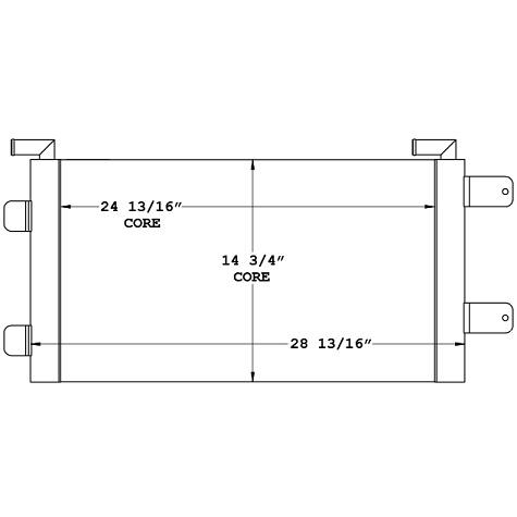 270926 - Case Wheel Loader Oil Cooler Oil Cooler