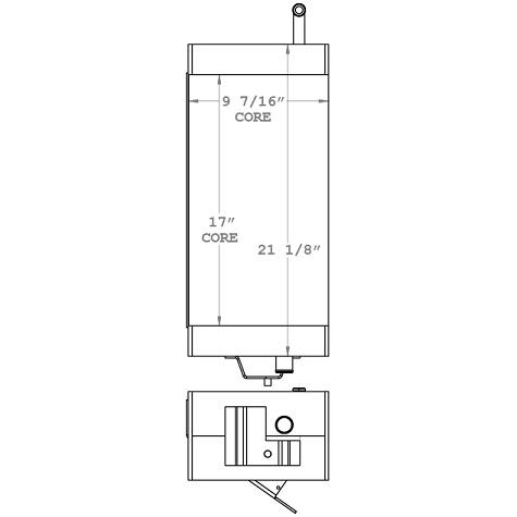 270936 - John Deere 4020 Hydraulic Oil Cooler Oil Cooler