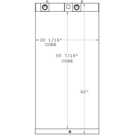 270937 - Sullair 900XHH, 1150XHH & 1350XH Oil Cooler Oil Cooler