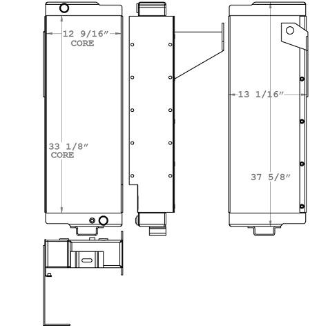 270947 - John Deere 750 Dozer Oil Cooler Oil Cooler