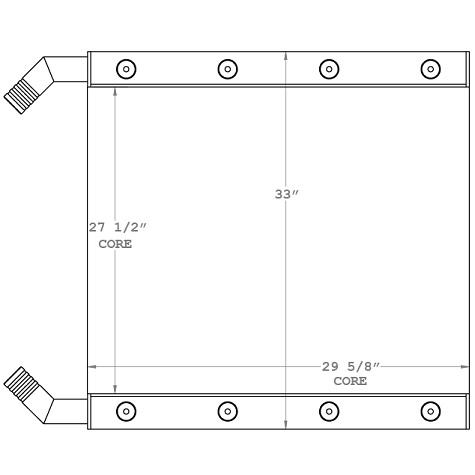 270953 - Link-Belt LS-138Hii Crane Oil Cooler Oil Cooler