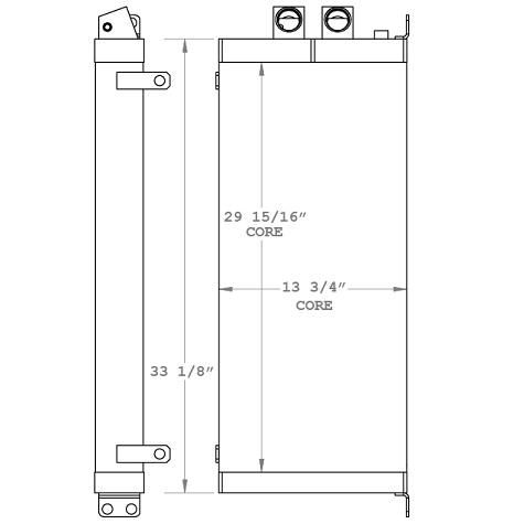 270955 - Caterpillar CS-663E Oil Cooler Oil Cooler