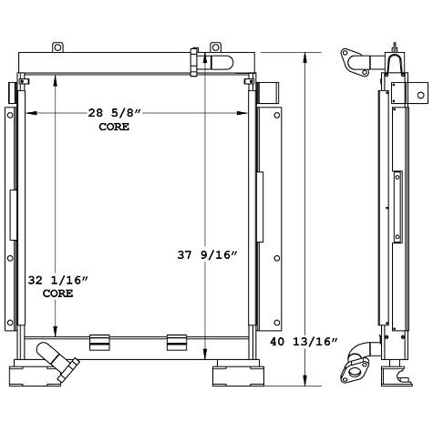 270974 - Komatsu PC228UU-1 Oil Cooler Oil Cooler