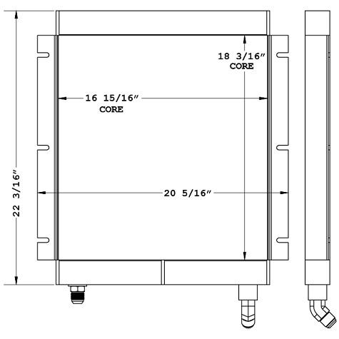 270977 - Volvo MC90 Skidsteer Oil Cooler Oil Cooler