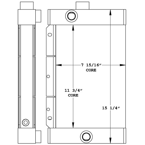 270979 - Vibromax Oil Cooler Oil Cooler