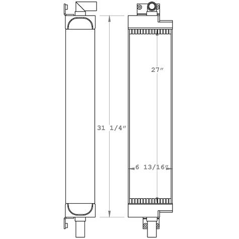 270980 - Case 855D Oil Cooler Oil Cooler
