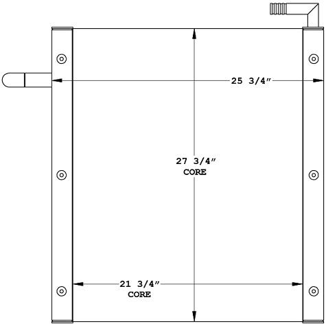 270984 - Link-Belt Crane Oil Cooler Oil Cooler
