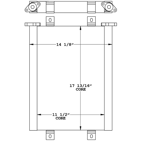 270986 - Kubota KX057-4 Hydraulic Oil Cooler Oil Cooler
