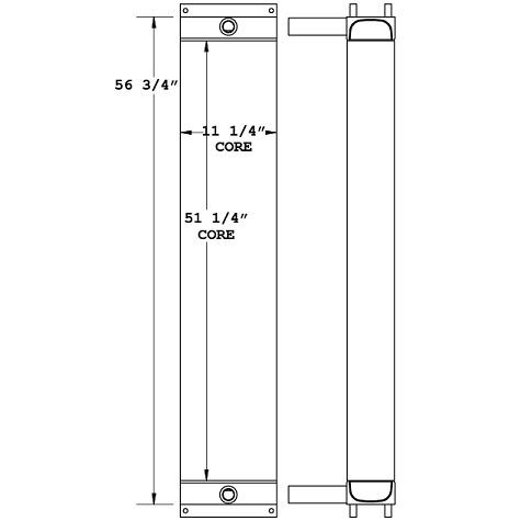 270987 - Schramm Drill Rig Compressor Oil Cooler Oil Cooler