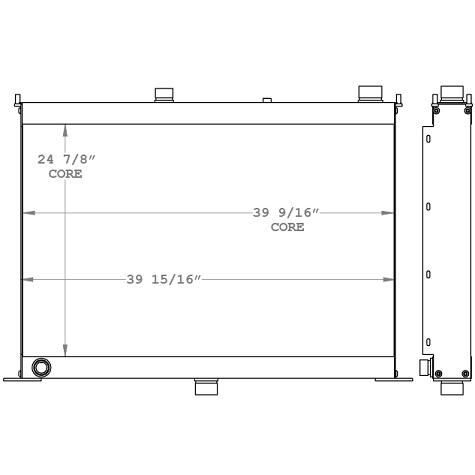 270997 - Hydraulic Press Brake Oil Cooler Oil Cooler