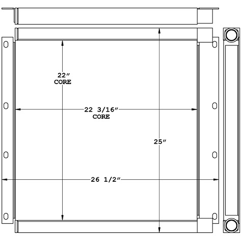 271008 - Grove Crane Hydraulic Oil Cooler Oil Cooler