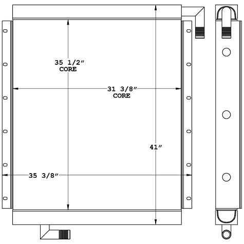271009 - Link-Belt Oil Cooler Oil Cooler