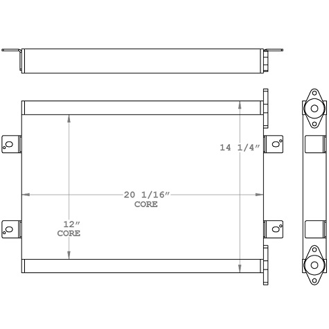 271010 - Kubota KX080-3 Hydraulic Oil Cooler Oil Cooler