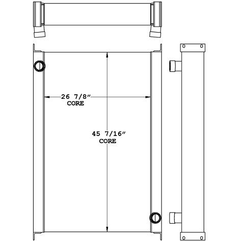 271011 - Industrial Air Compressor Oil Cooler Oil Cooler