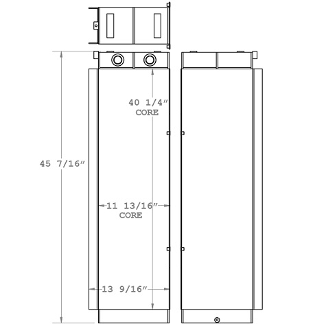271017 - Case 1850K / New Holland D180 Transmission Oil Cooler Oil Cooler