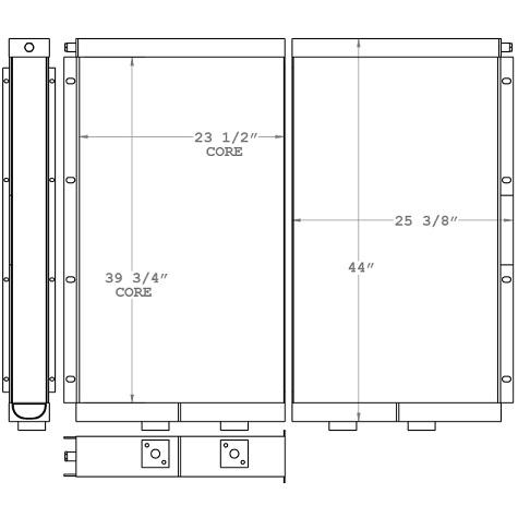 271033 - Elgi Equipments Air Compressor Oil Cooler Oil Cooler