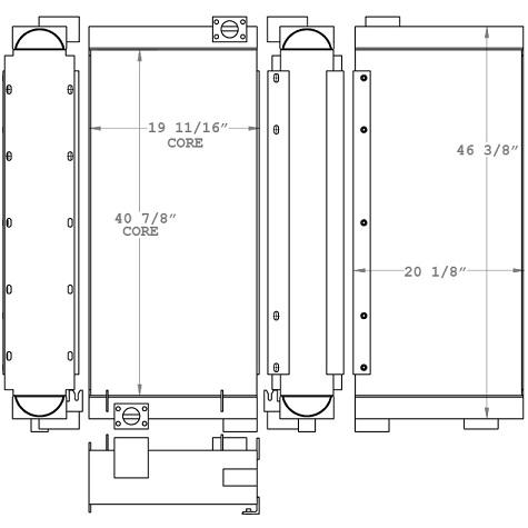 271035 - Kobelco SK330LC-6E Oil Cooler Oil Cooler