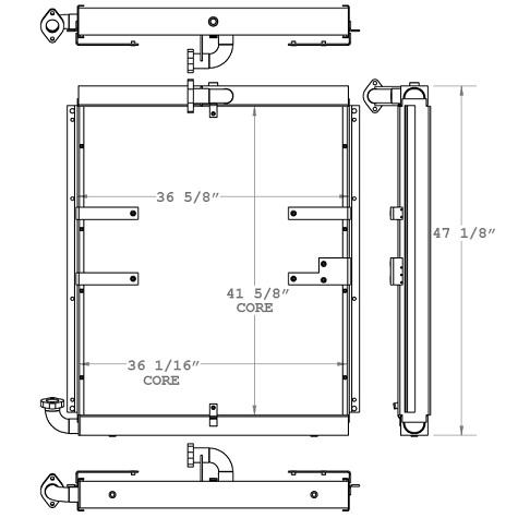 271037 - Hyundai 450LC-3 Excavator Hydraulic Oil Cooler Oil Cooler