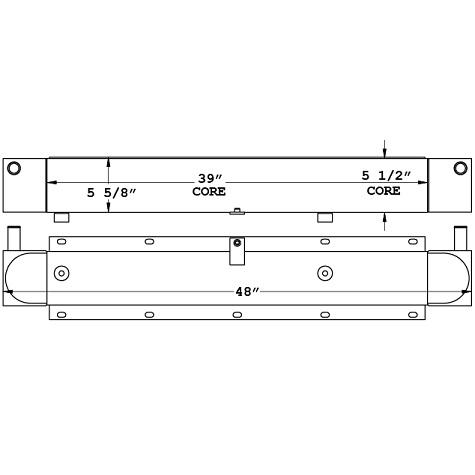 271041 - Link-Belt HTC8690 Mobile Crane Oil Cooler Oil Cooler