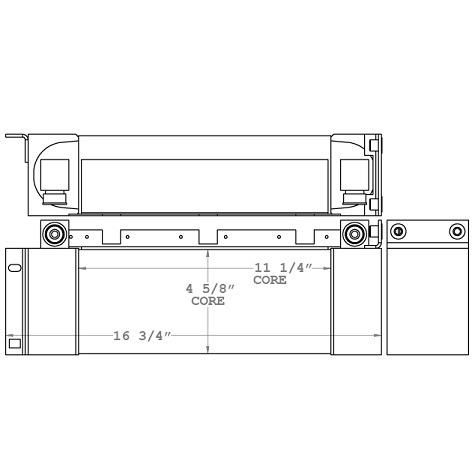 271043 - Rayco Stump Grinder Oil Cooler Oil Cooler