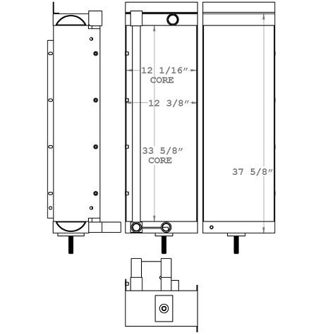271044 - Timbco 425 Feller Buncher Oil Cooler Oil Cooler